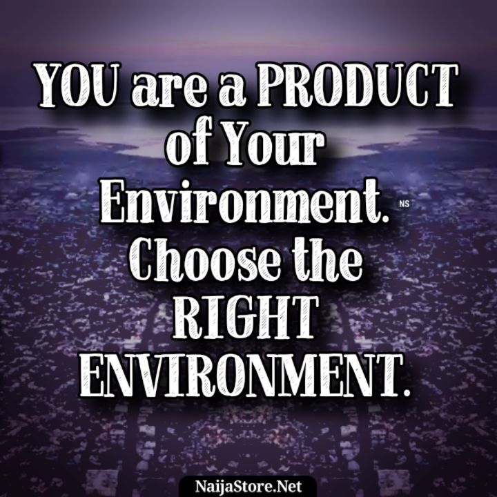 Quotes: You are a product of your environment. Choose the right environment - Motivation