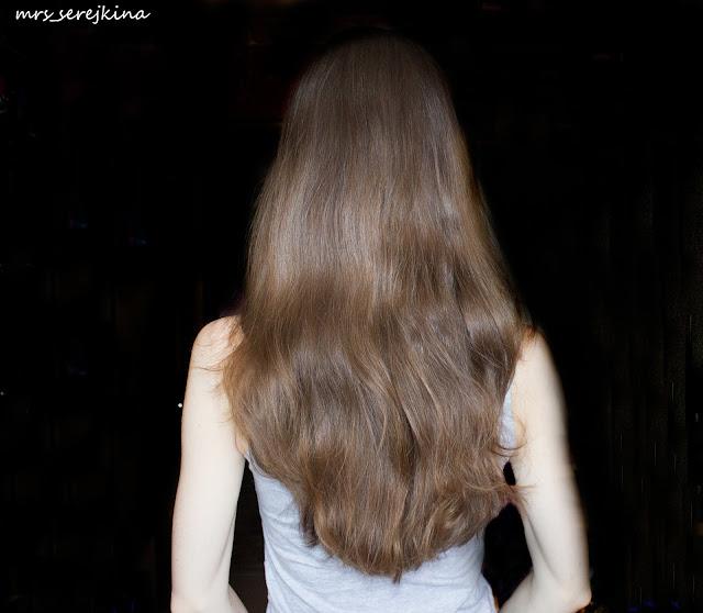 Обычное состояние волос: второй день после мытья шампунь+бальзам, без укладки, высохшие естественным путем