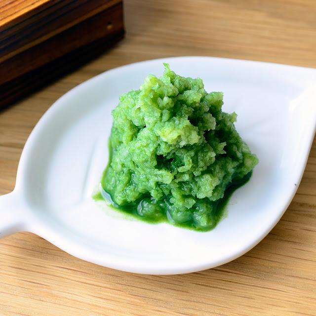 日本茶ノ生餡「しずおか緑茶」を使った、緑茶大根おろしのレシピ。おいしい日本茶研究所。