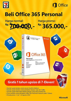 Microsoft Indonesia Beri Diskon Office 365 di 7Eleven