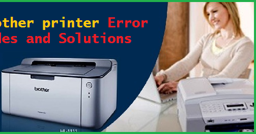 Brother printer Error codes and solutions