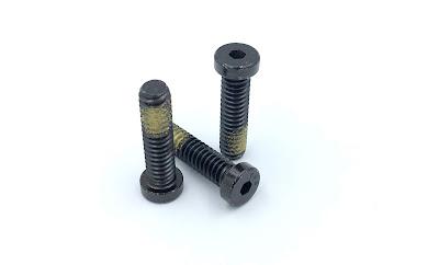 Custom Low Head Socket Cap Screws - 1/4-20 X 1 Low Head Socket Head Cap Screws In Black Zinc With Nylon Thread Locking Patch