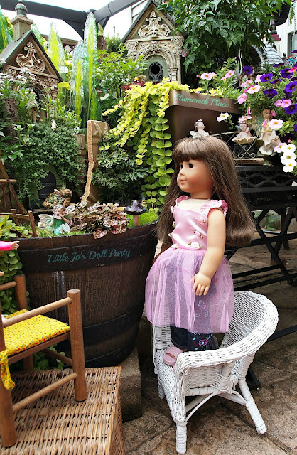 American girl Samantha, Broken Pot Fairy Garden