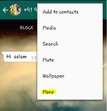 Block a whatsapp contact