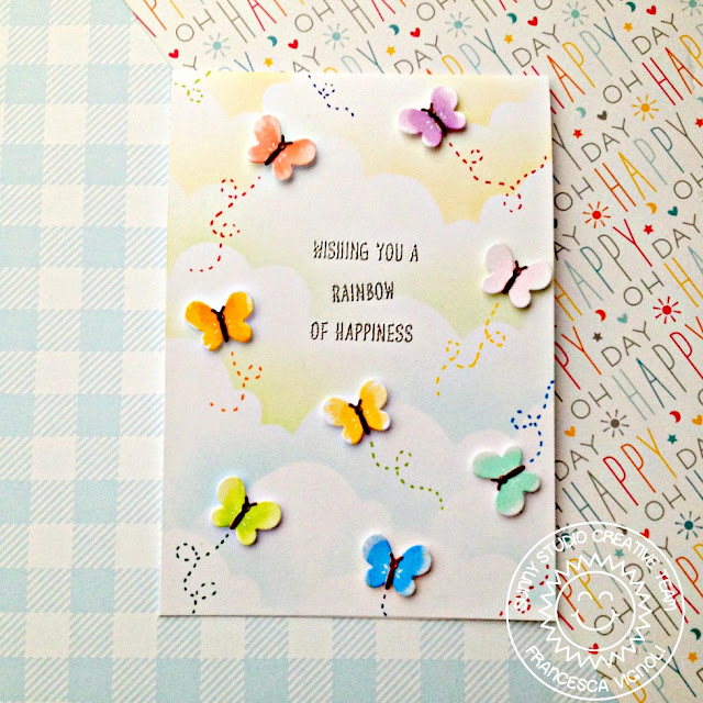Sunny Studio Stamps: Over The Rainbow Basic Mini Shape Dies Everyday Card by Franci Vignoli
