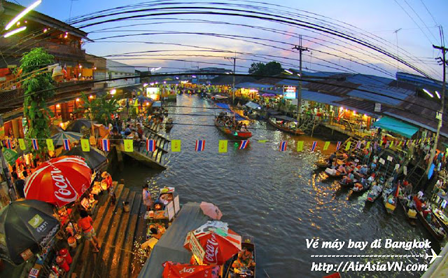 Ve may bay di Bangkok