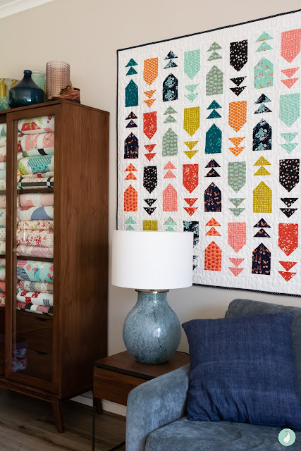 Venture Out quilt by Aqua Paisley found on A Bright Corner - pattern from the Fresh Fat Quarter Quilts Book by Andy Knowlton