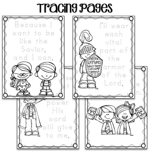 LDS Notebooking: Scripture Power Tracing, Mini-books and