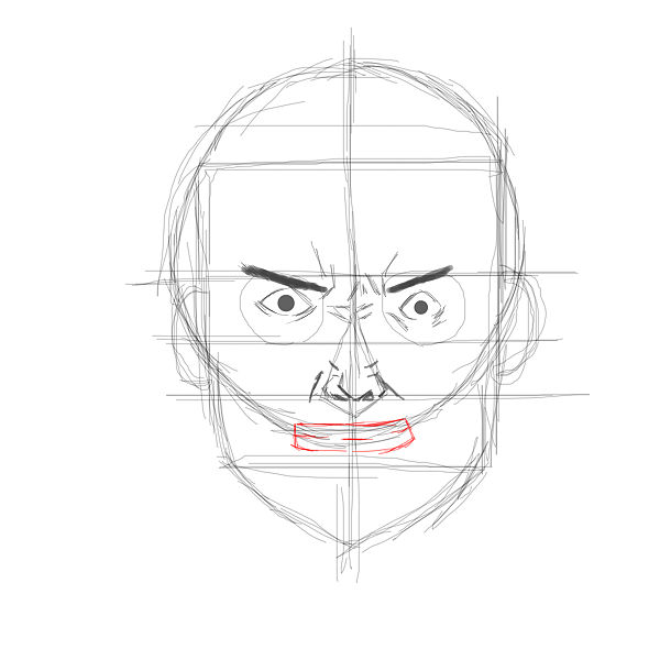 It's just a picture of Peaceful Angry Mouth Drawing