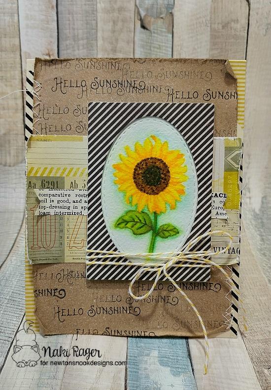 Hello Sunshine by Naki features Flower Garden by Newton's Nook Designs, #newtonsnook