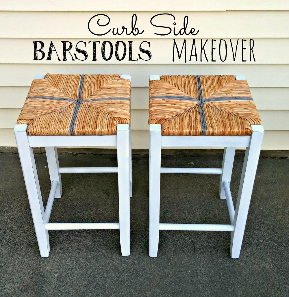 Curb Side Bar Stools Makeover Little Vintage Cottage