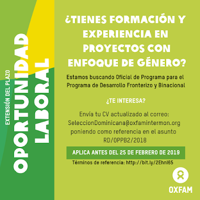 Vacante de Oxfam República Dominicana