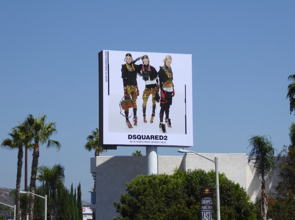DSquared2 womenswear Fall 2016 billboard