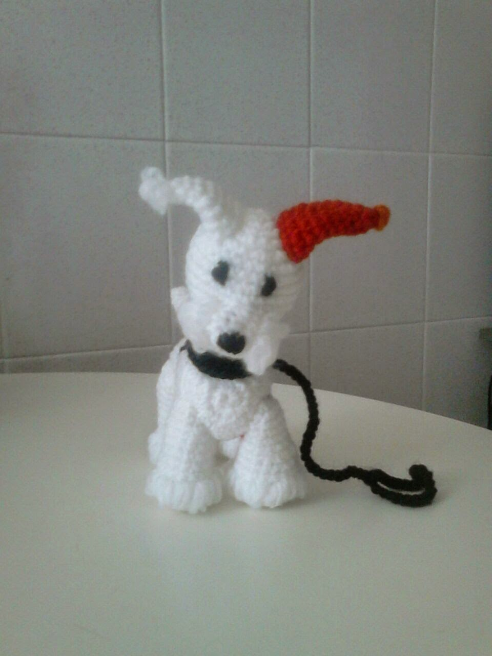 amigurumi fox terrier vista frontal