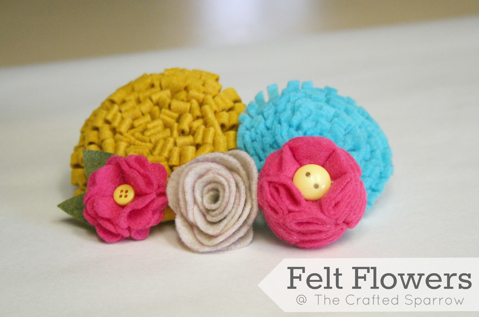 Felt Flowers Tutorials {5} To Choose From