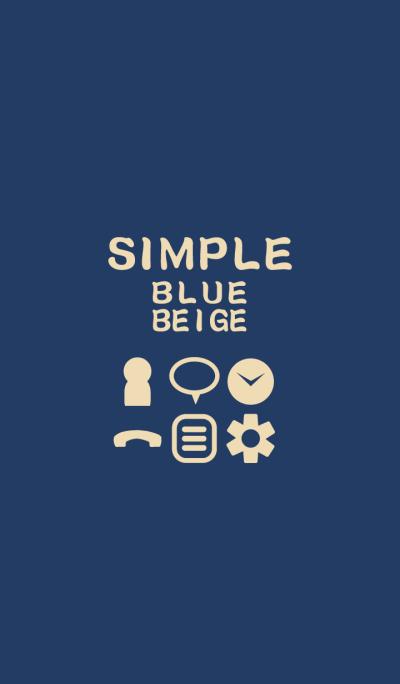 SIMPLE blue*beige*
