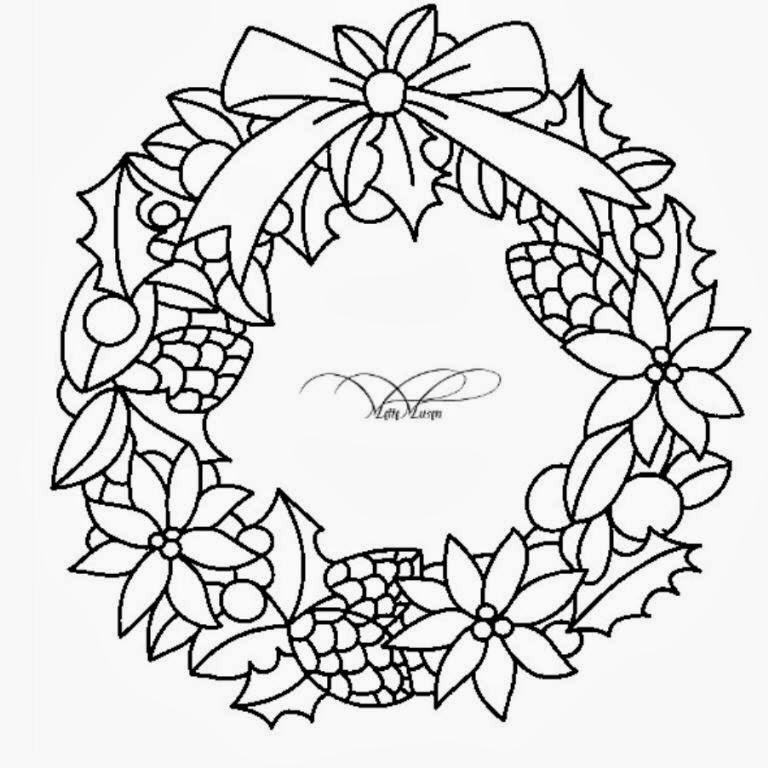 Desenhos De Guirlandas De Natal Natalinas Para Imprimir E