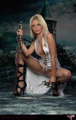Sarah Michelle Gellar Slayer Edit 1  Original  Sarah Michelle Gellar Nude Possing her Boobs & Ass Fake