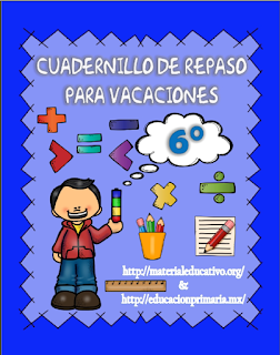 CUADERNILLO DE REPASO PARA  VACACIONES