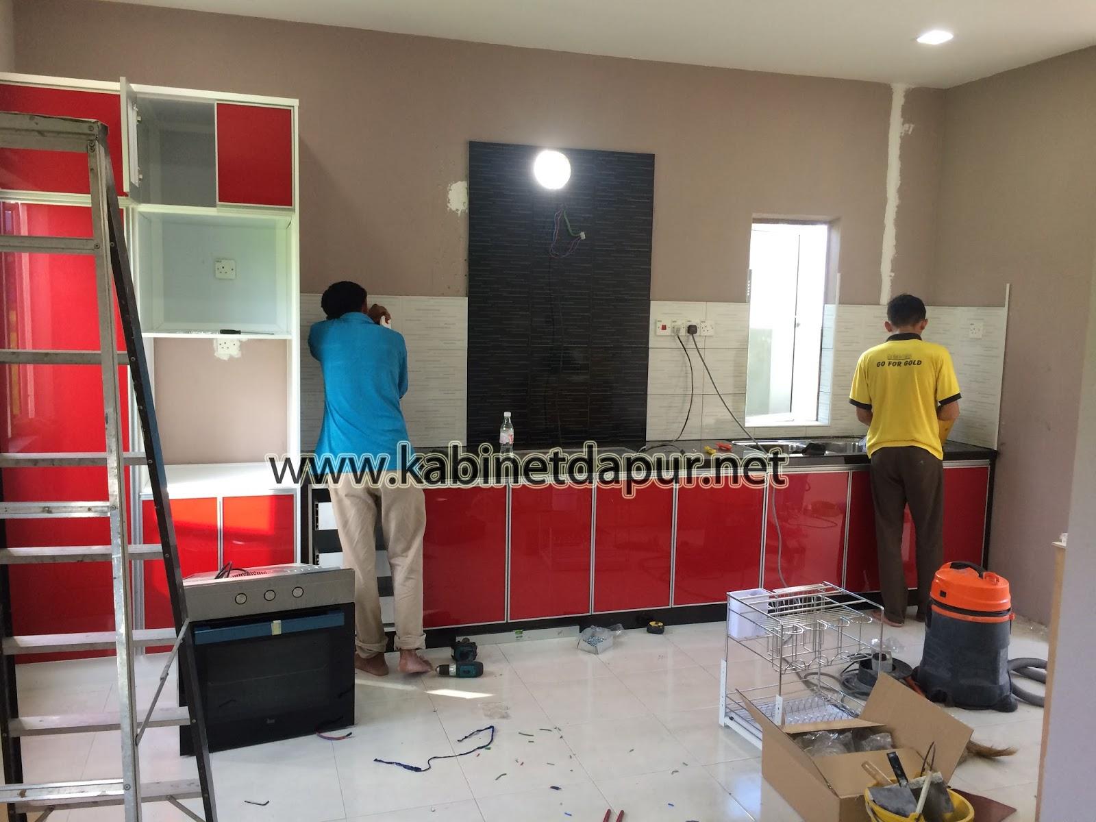 Projek Kabinet Dapur Aluminium Di Taman Bintong Aman Kangar Kabinet Dapur Kabinet Dapur Alor Setar