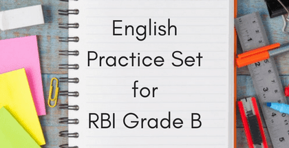 English Practice Set for RBI Grade B 2018
