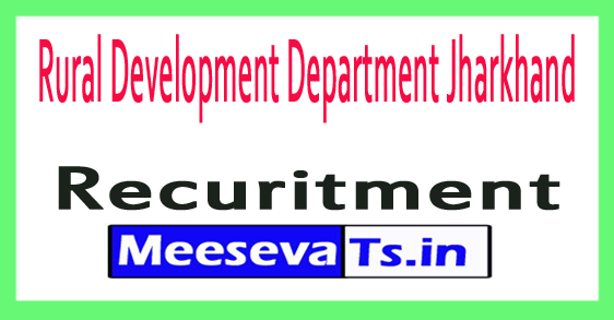 Rural Development Department RDD Jharkhand Recruitment