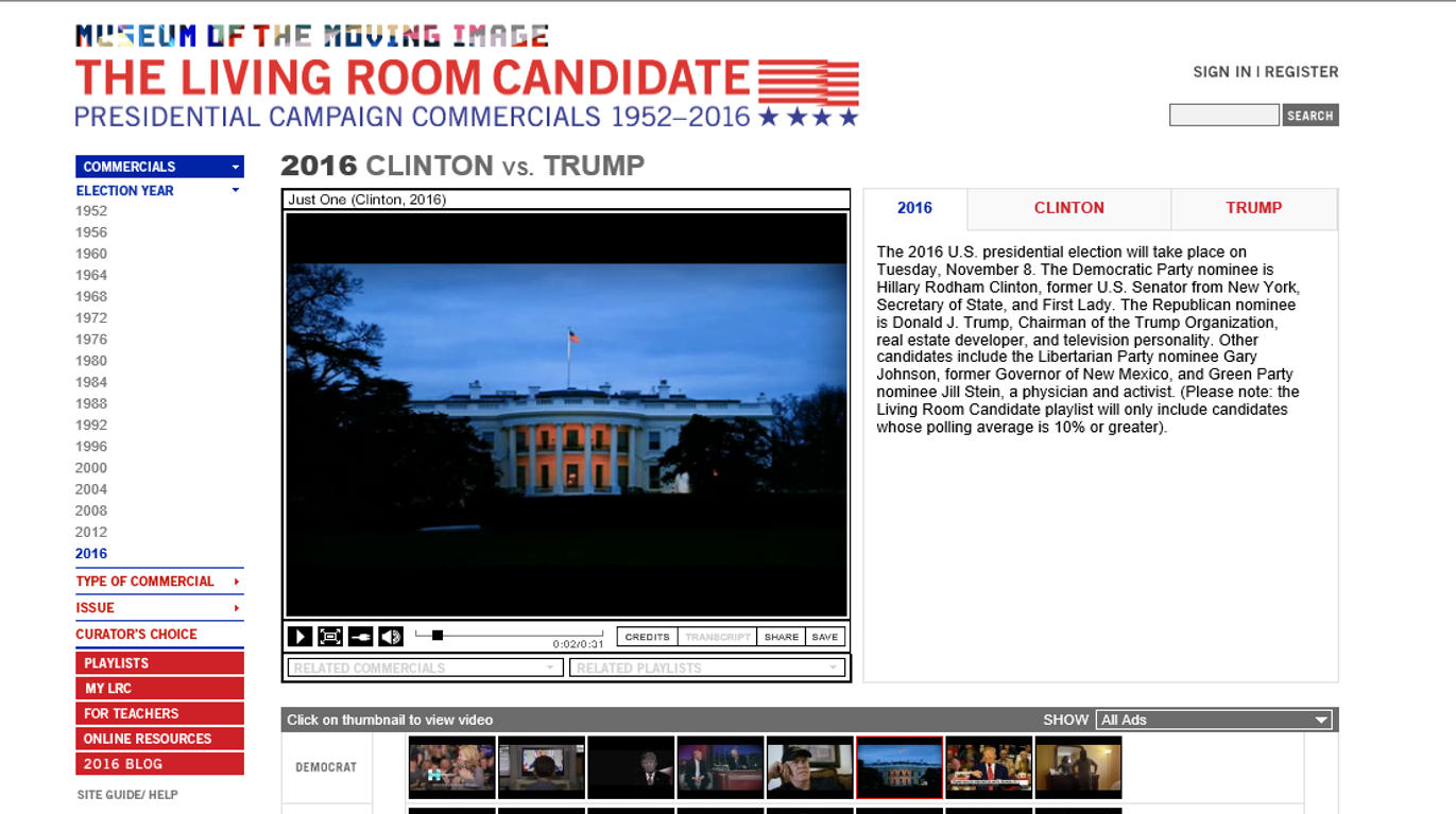 The teacher 39 s prep presidential election resources for for Living room candidate