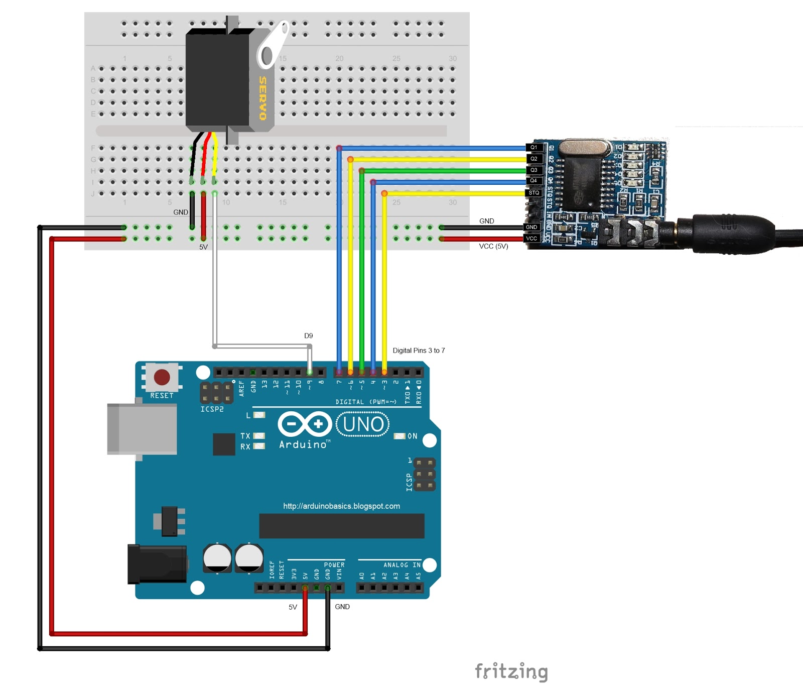 Arduino Basics: MT8870 DTMF - Dual Tone Multi Frequency Decoder