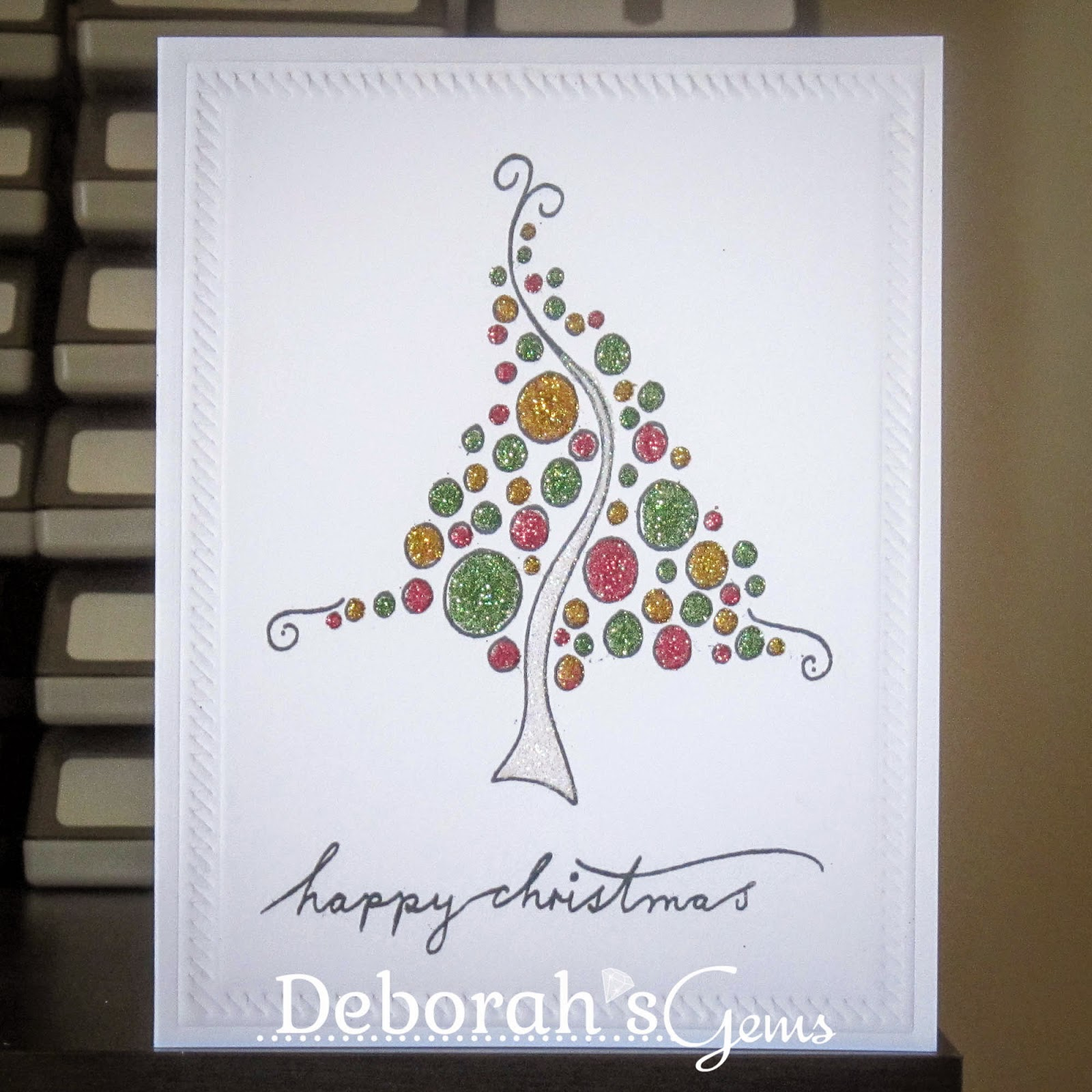 Happy Christmas sq - photo by Deborah Frings - Deborah's Gems