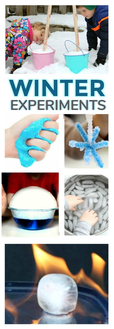 AMAZING WINTER EXPERIMENTS: 30+ ideas kids of all ages will love!  #winterscienceforkids #scienceforkids #winteractivitiesforkids