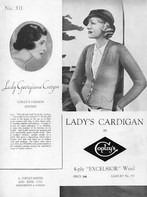 1930s vintage knitting