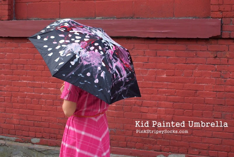 Kid Painted Umbrella- Mother's Day Gift Idea