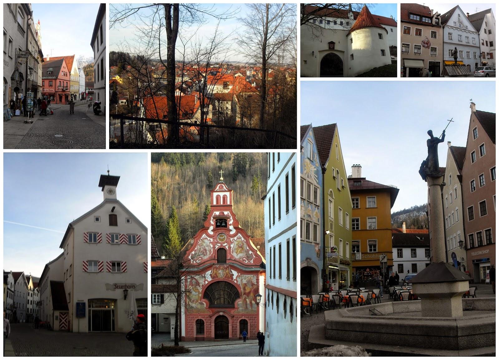 casco histórico de Füssen en Baviera, Alemania