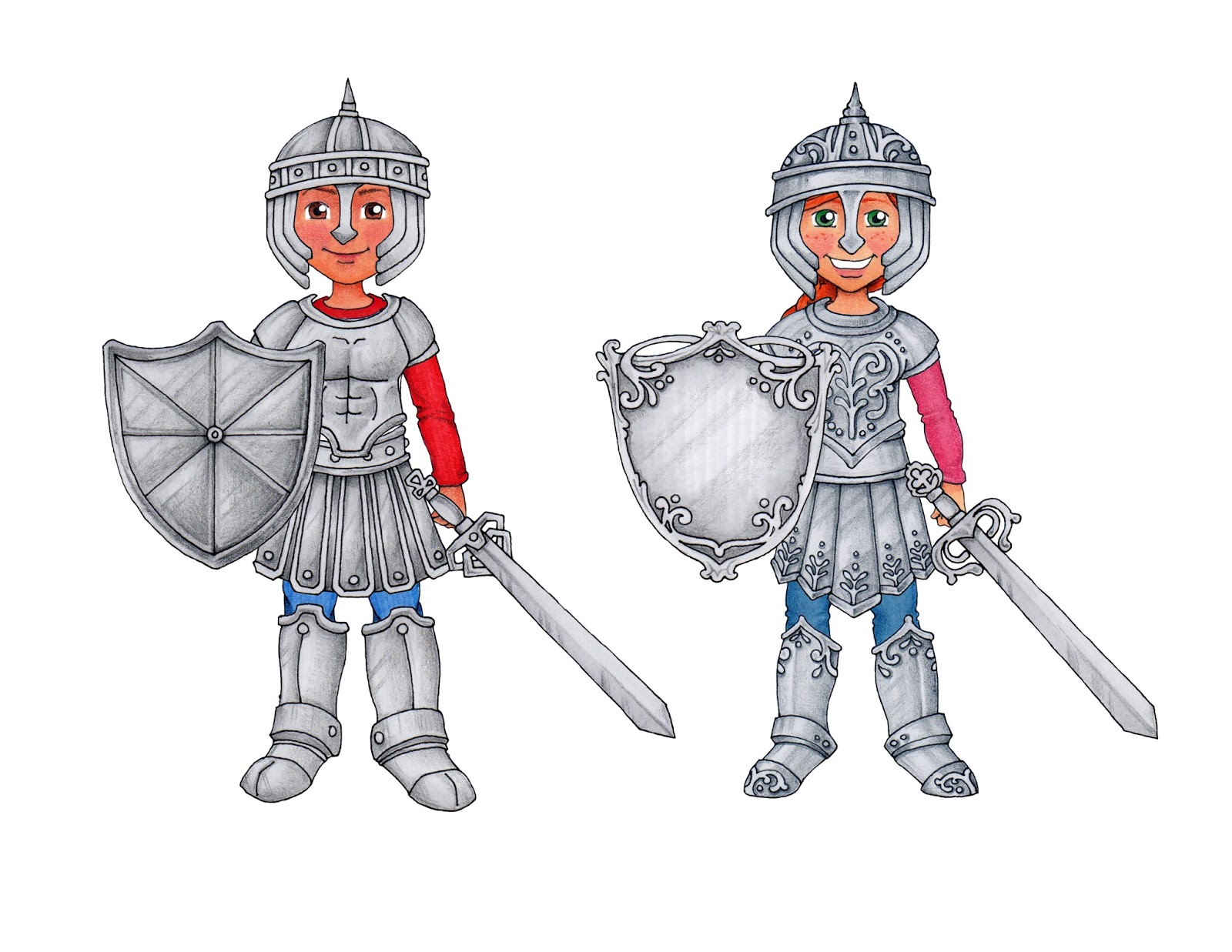 susan fitch design armor of god warriors printable