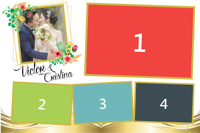 Simple Wedding Dslrbooth template white