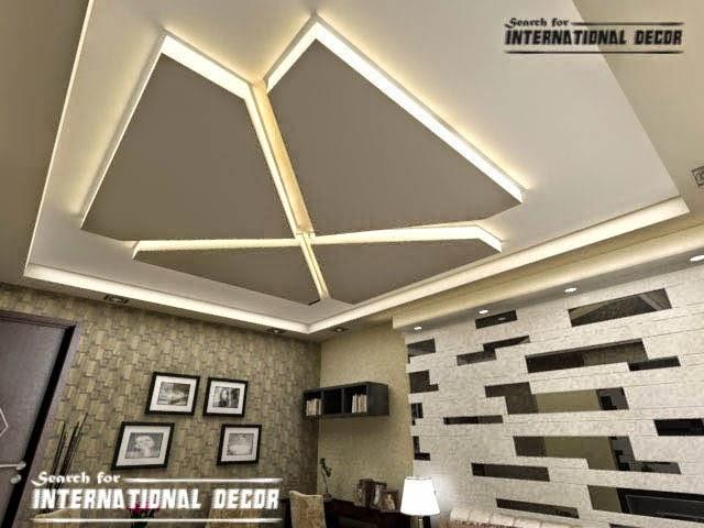 Modern gypsum board ceiling for living room