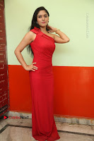 Actress Zahida Sam Latest Stills in Red Long Dress at Badragiri Movie Opening .COM 0041.JPG