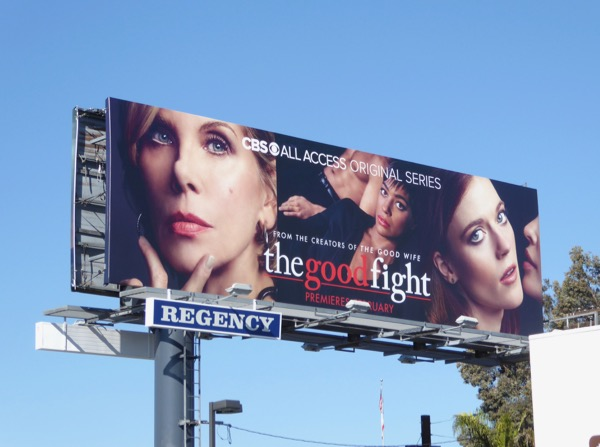 Good Fight series launch billboard