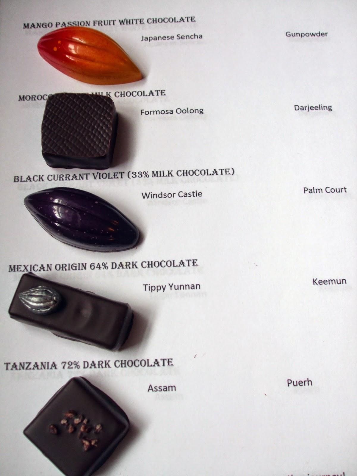 Rosemary S Sampler Chocolate And Tea Pairing