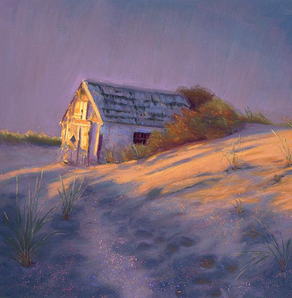 Pastel Painting Tasha S Dune Shack Landscape Pastel