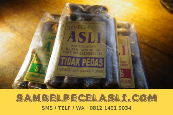 Sambel Pecel buat Bekal Backpacker