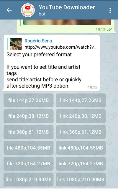 Baixar musica telegram