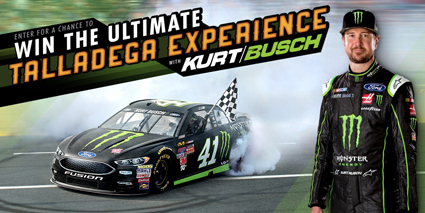Monster Energy® Chance to Win the Ultimate Kurt Busch Talladega Experience #nascar