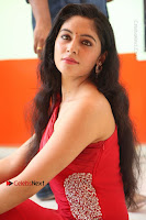 Actress Zahida Sam Latest Stills in Red Long Dress at Badragiri Movie Opening .COM 0136.JPG