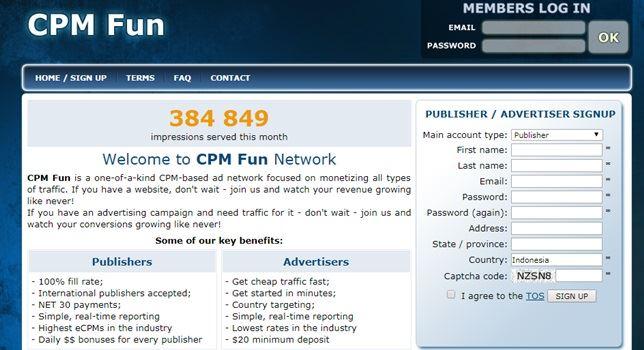CPMfun solusi iklan blog
