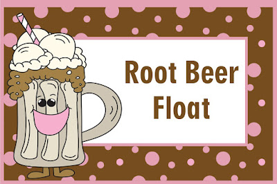 Root Beer Float Birthday Party Tent Cards-Root Beer Float Social-DIY Birthday Party Ideas-Printable Digital Download-Cutout Template by The Iced Sugar Cookie