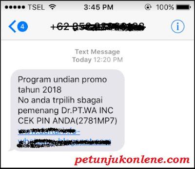 Cara Melaporkan SMS Penipuan Undian Berhadiah