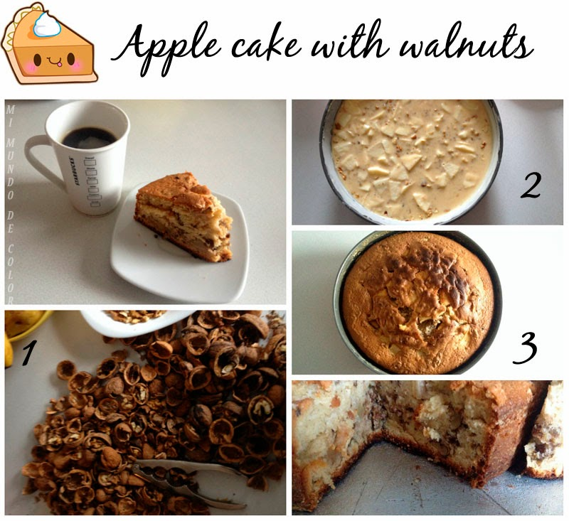 recipe apple cake with walnuts