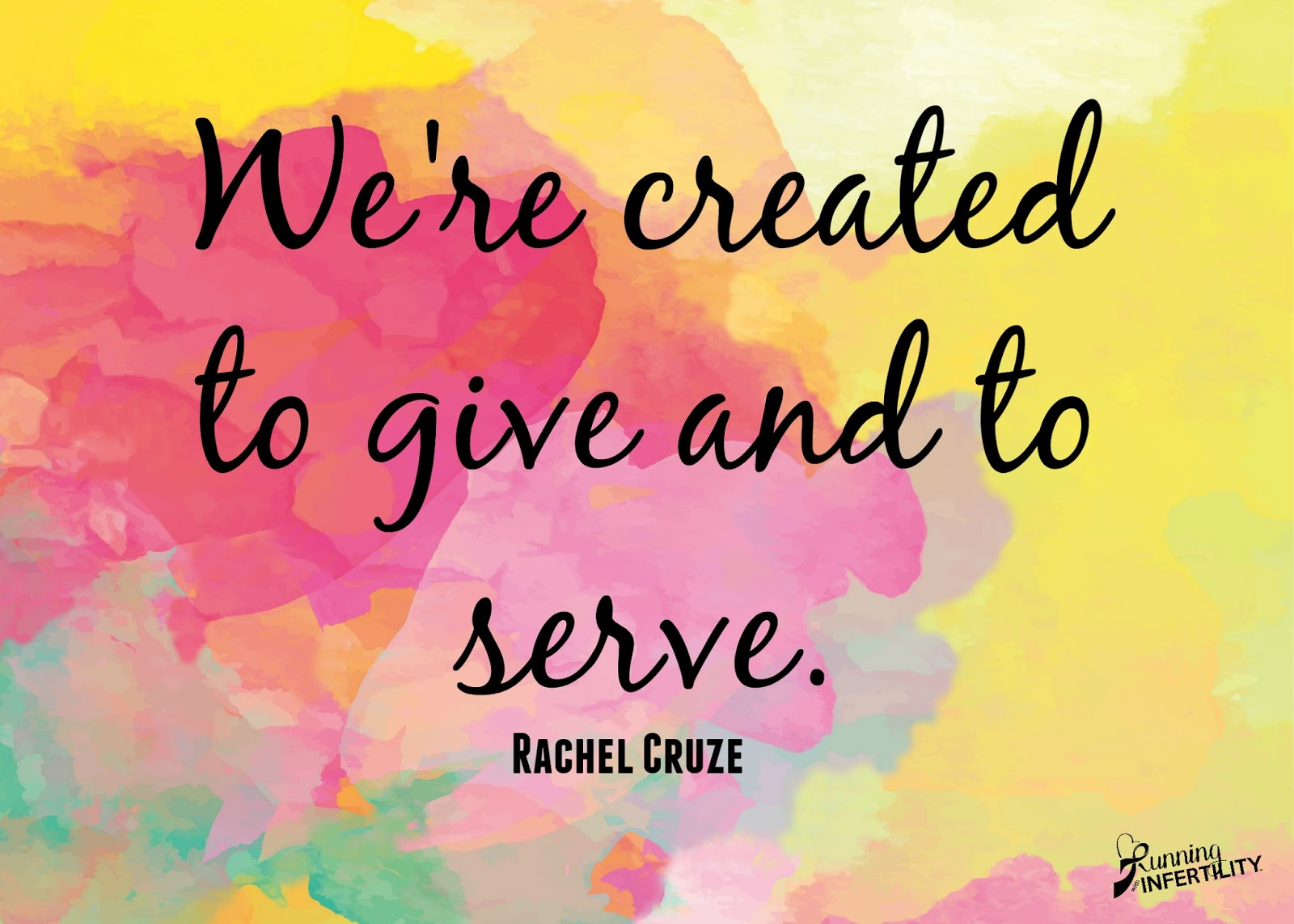 we're created to give and to serve. the bigger picture