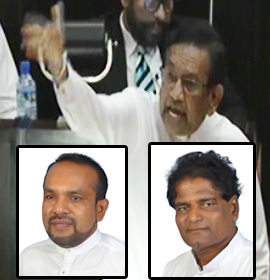 """Wimalaweera a phantom ...   Ranjith has taken a house of an old foreign woman    Rajitha shatters Mps who requested point of order (video)"